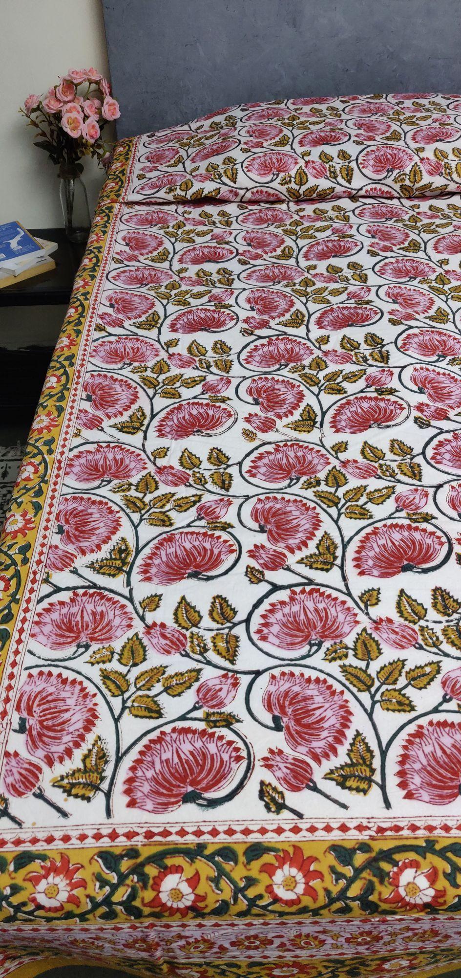 Handblock Single Bedsheet BHS132