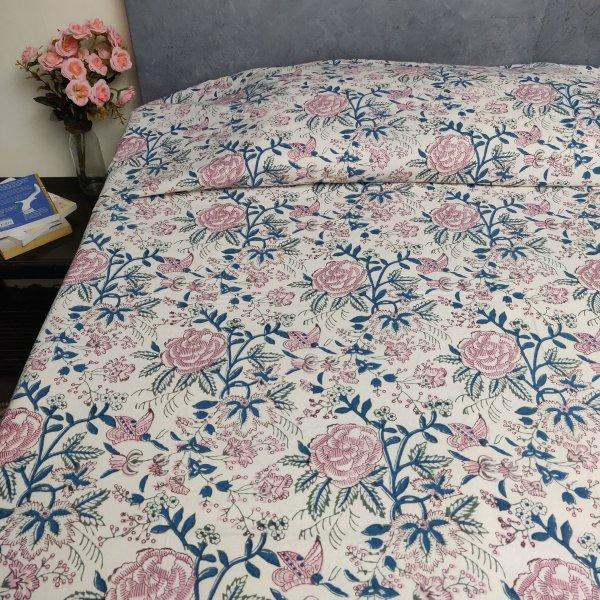 Handblock Single Bedsheet BHS133