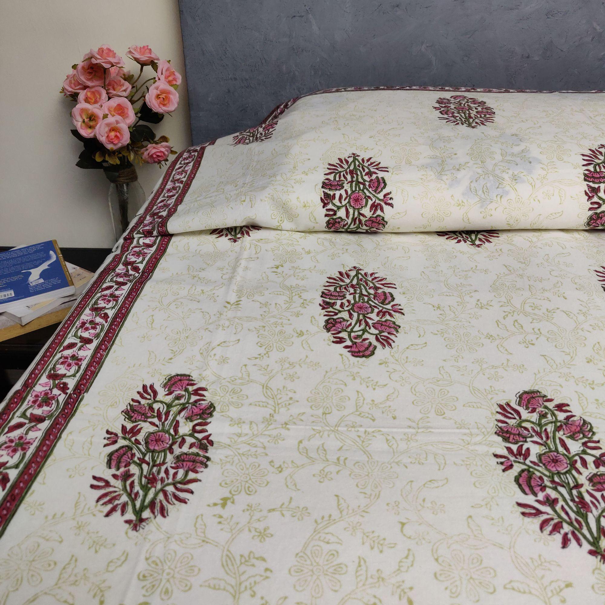 Handblock Single Bedsheet BHS136