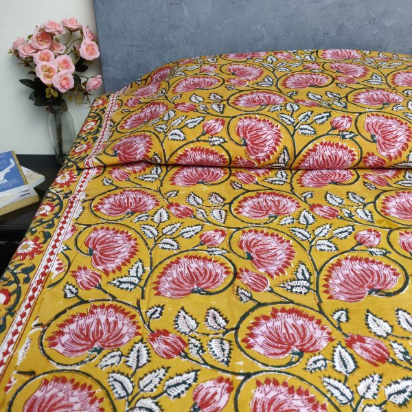 Handblock Single Bedsheet BHS142