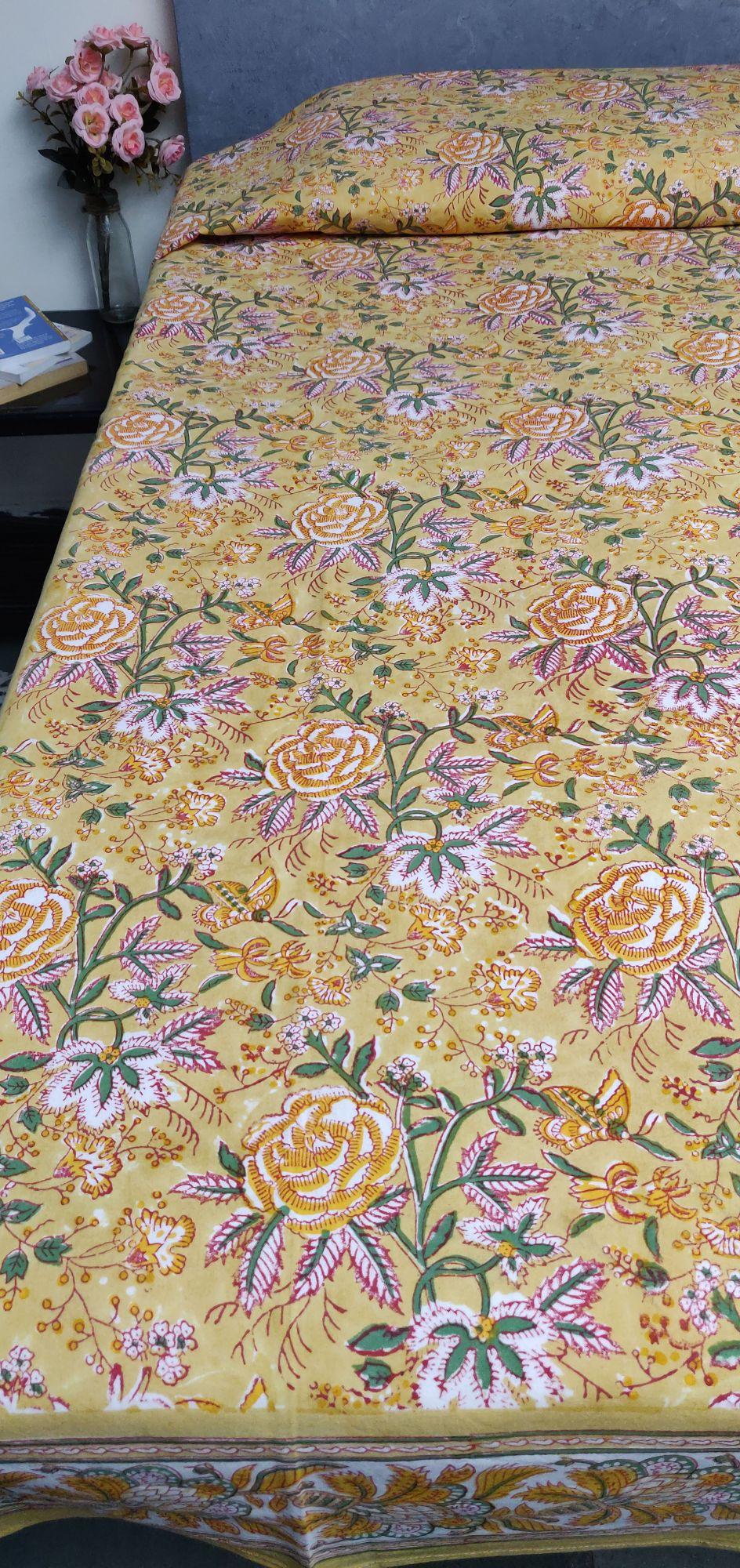 Handblock Single Bedsheet BHS144