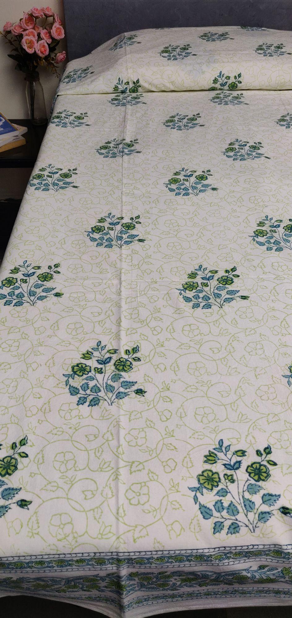 Handblock Single Bedsheet BHS150