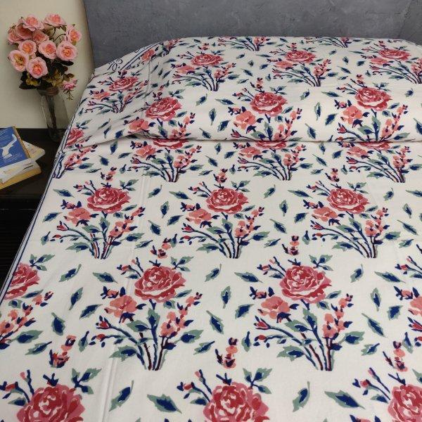 Handblock Single Bedsheet BHS152