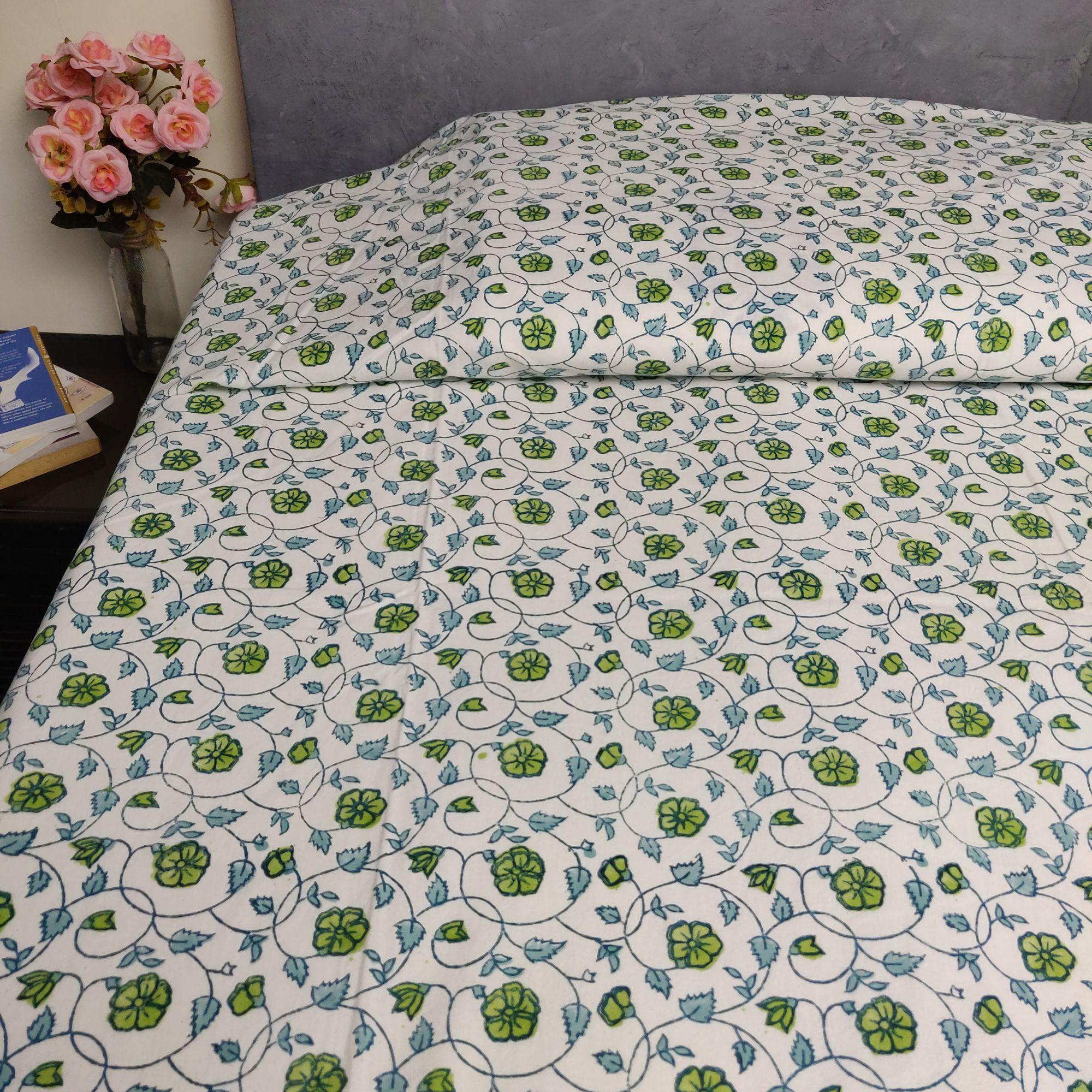Handblock Single Bedsheet BHS154