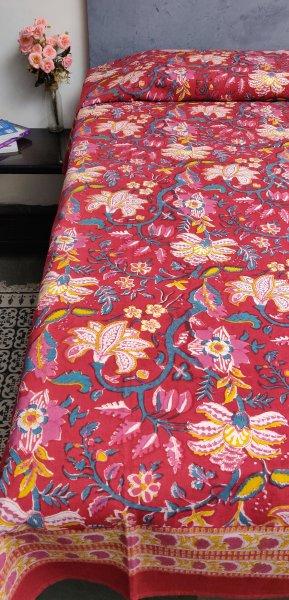 Handblock Single Bedsheet BHS45