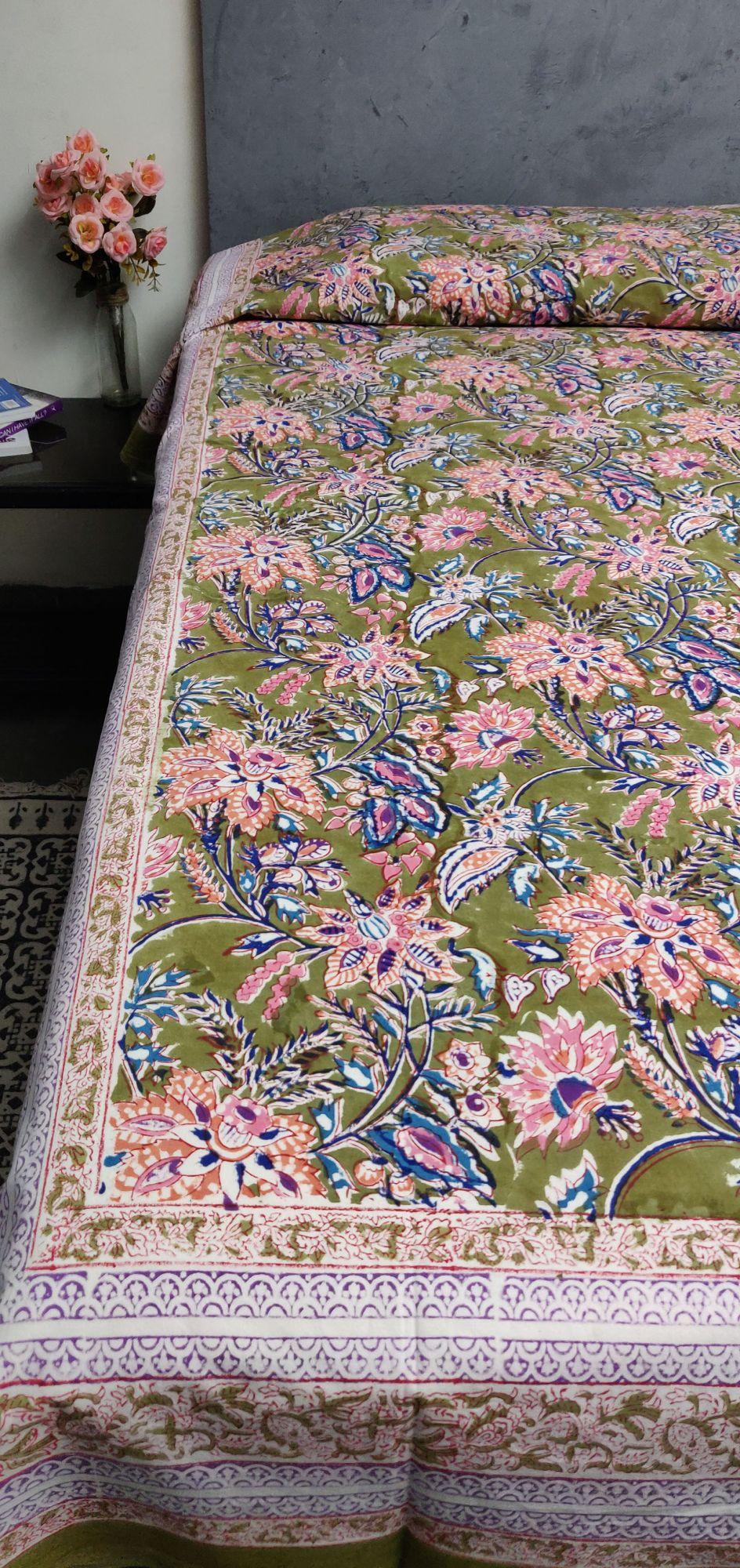 Handblock Single Bedsheet BHS46