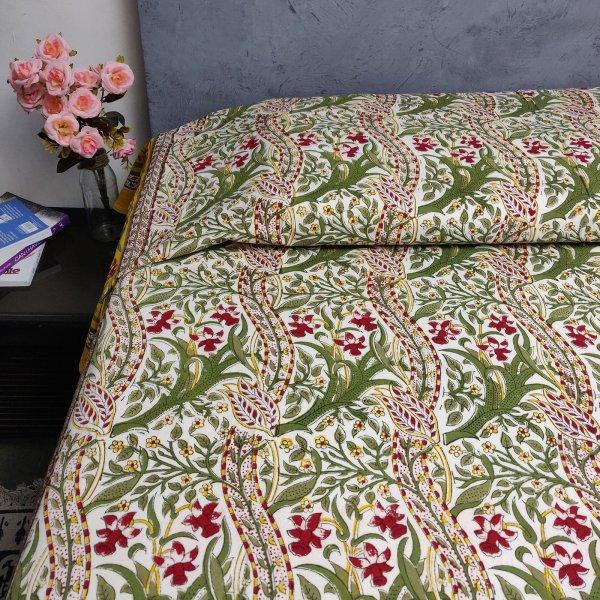 Handblock Single Bedsheet BHS47