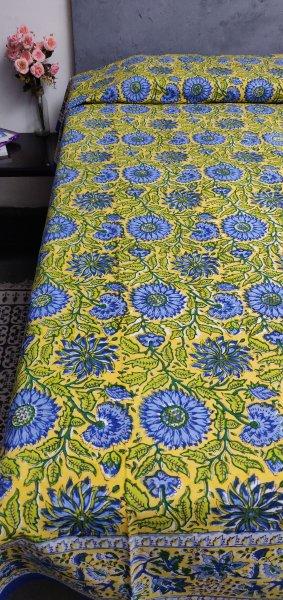 Handblock Single Bedsheet BHS48