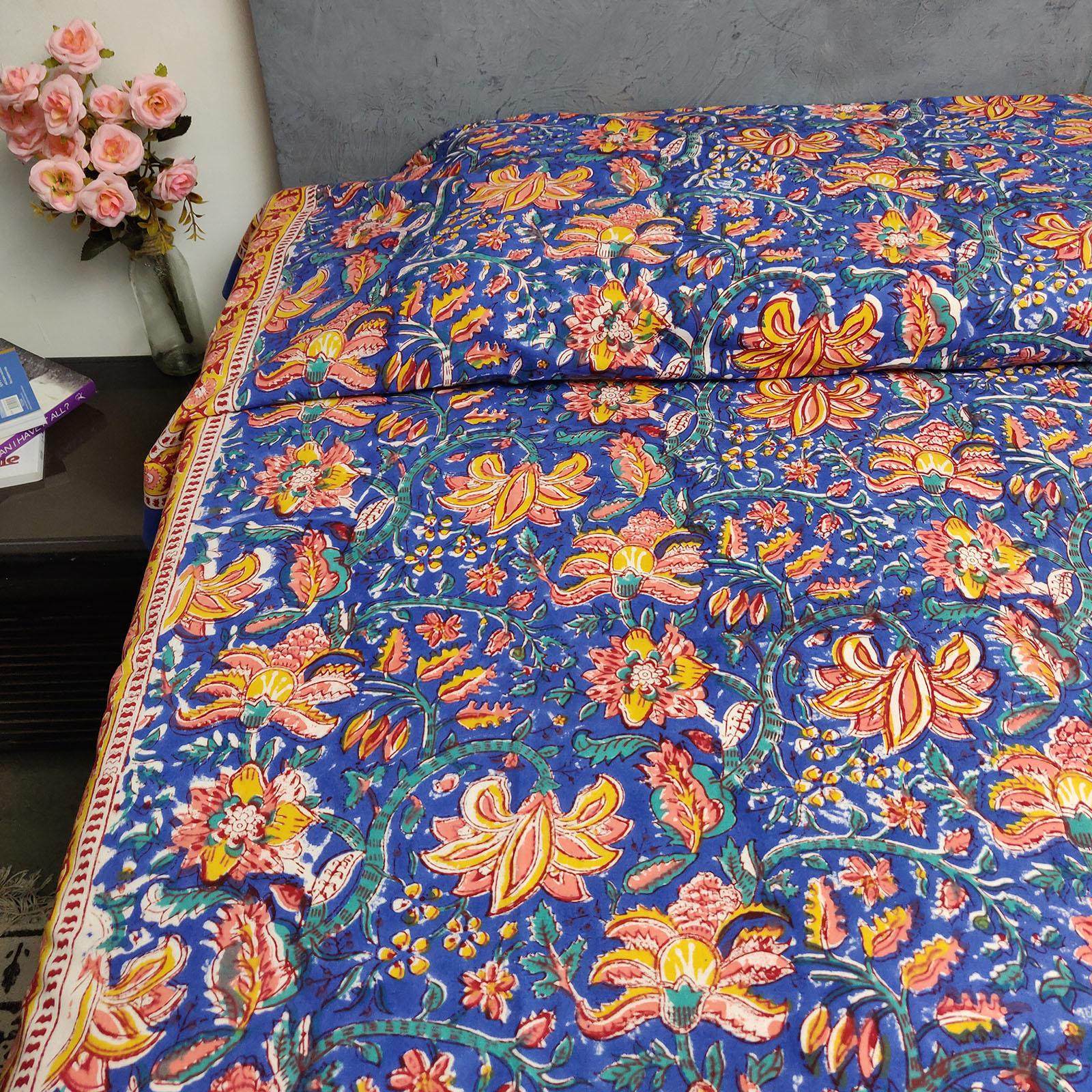 Handblock Single Bedsheet BHS55