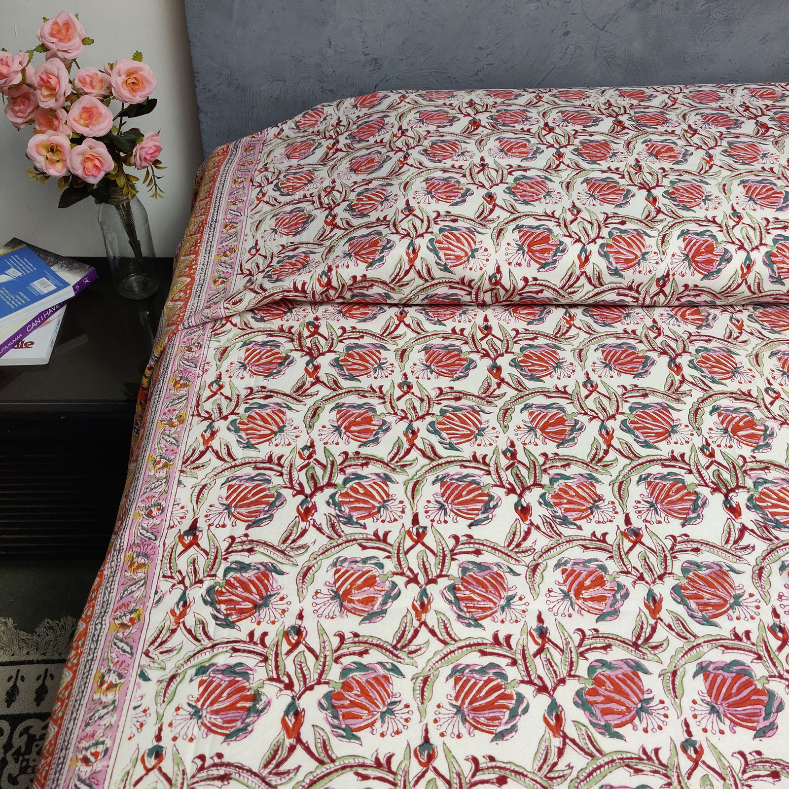 Handblock Single Bedsheet BHS56