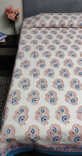 Handblock Single Bedsheet BHS57