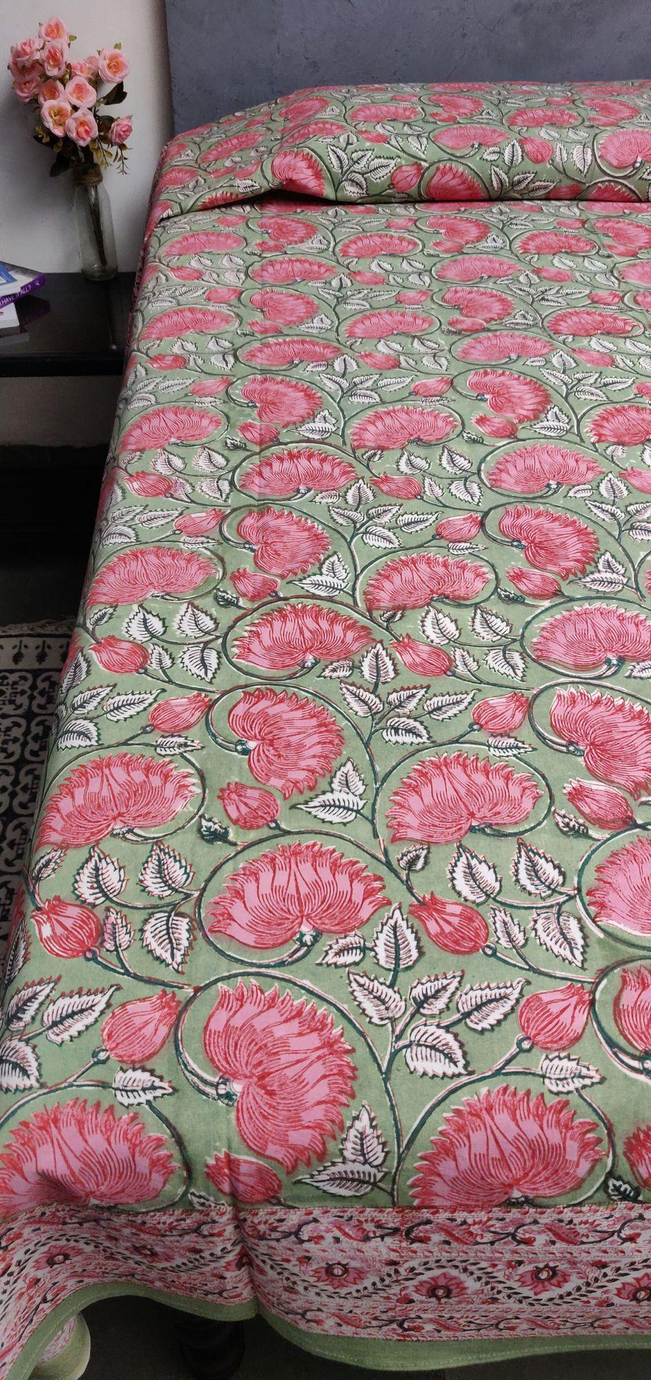 Handblock Single Bedsheet BHS65