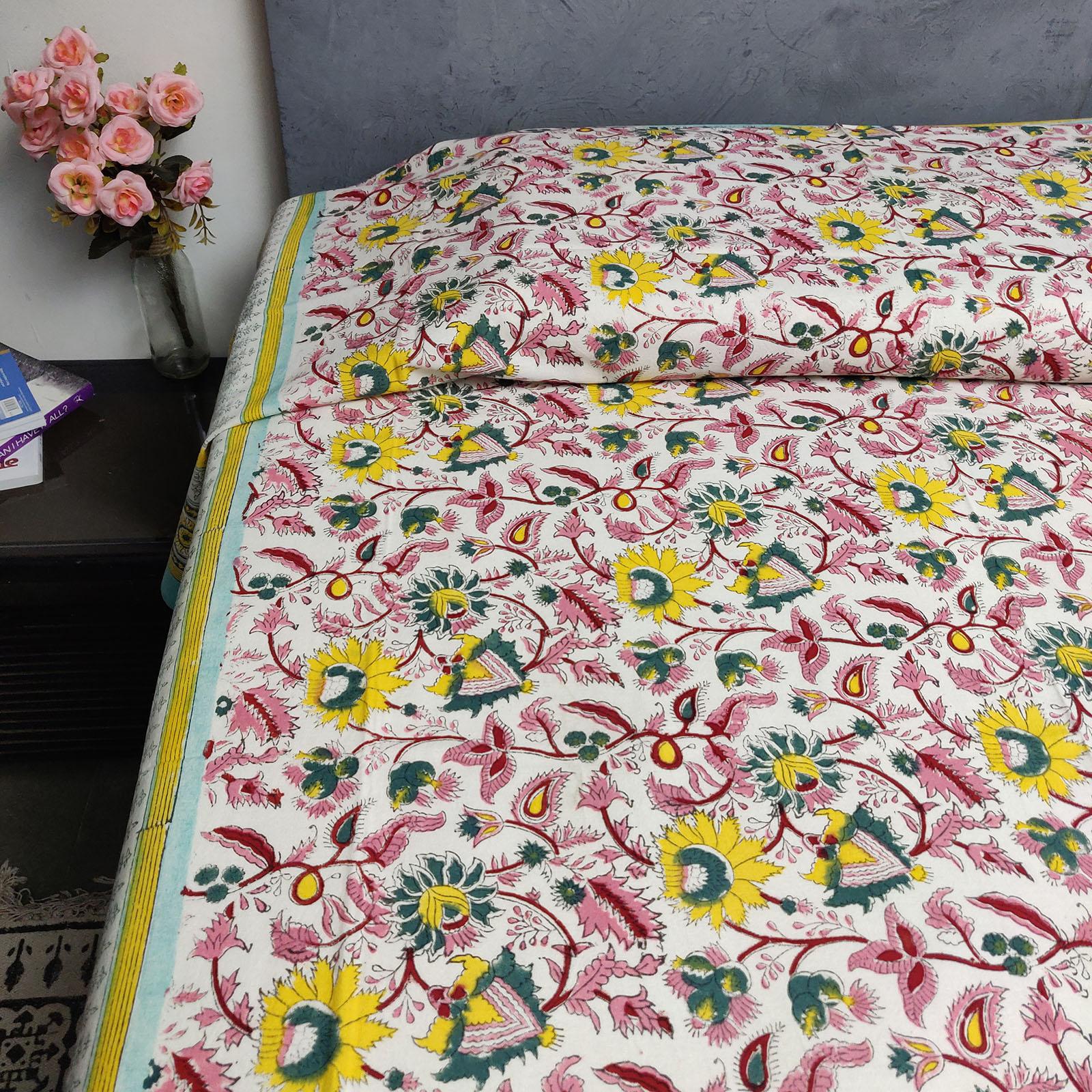 Handblock Single Bedsheet BHS77