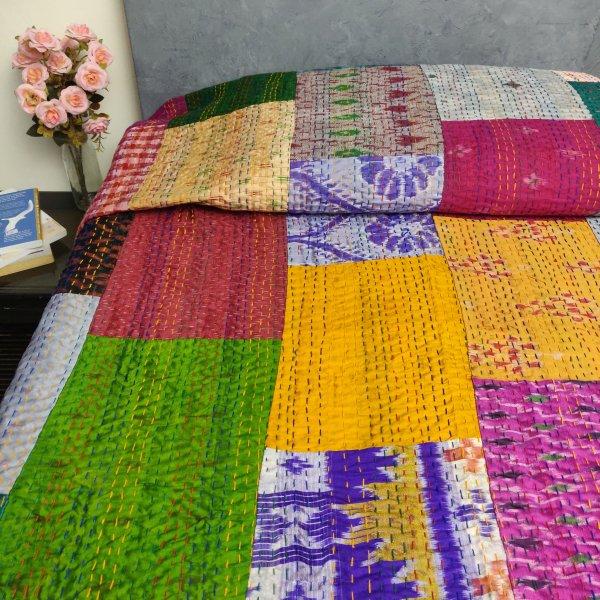 Silk Patola Kaantha Double Bedspread BKPD2