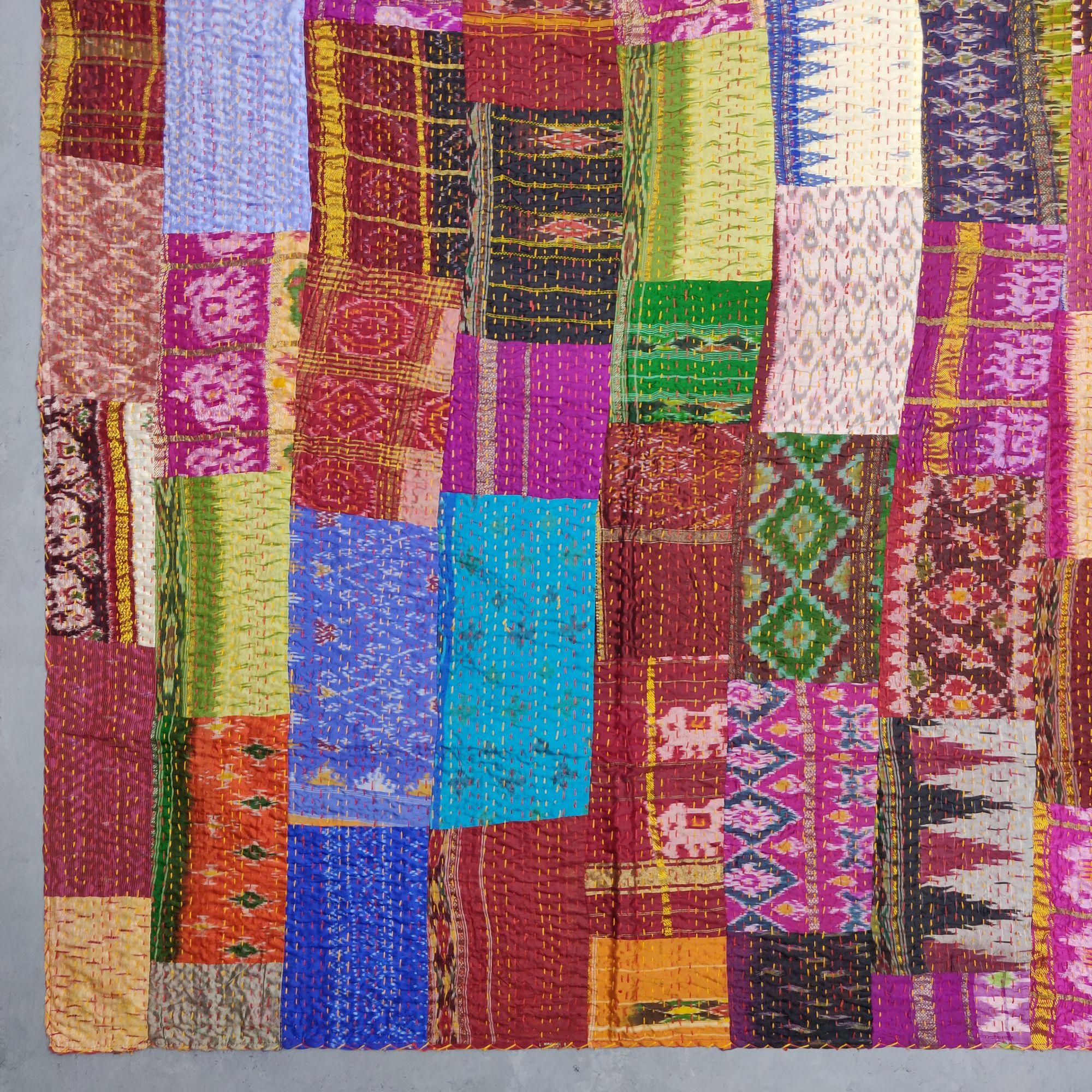 Silk Patola Kaantha Double Bedspread BKPD4