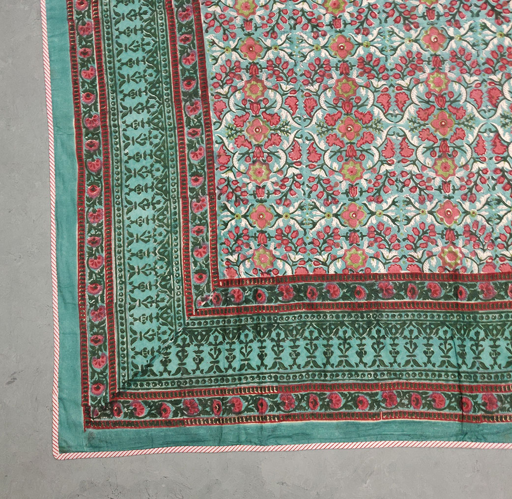 Jaal Floral Green Single Size Dohar