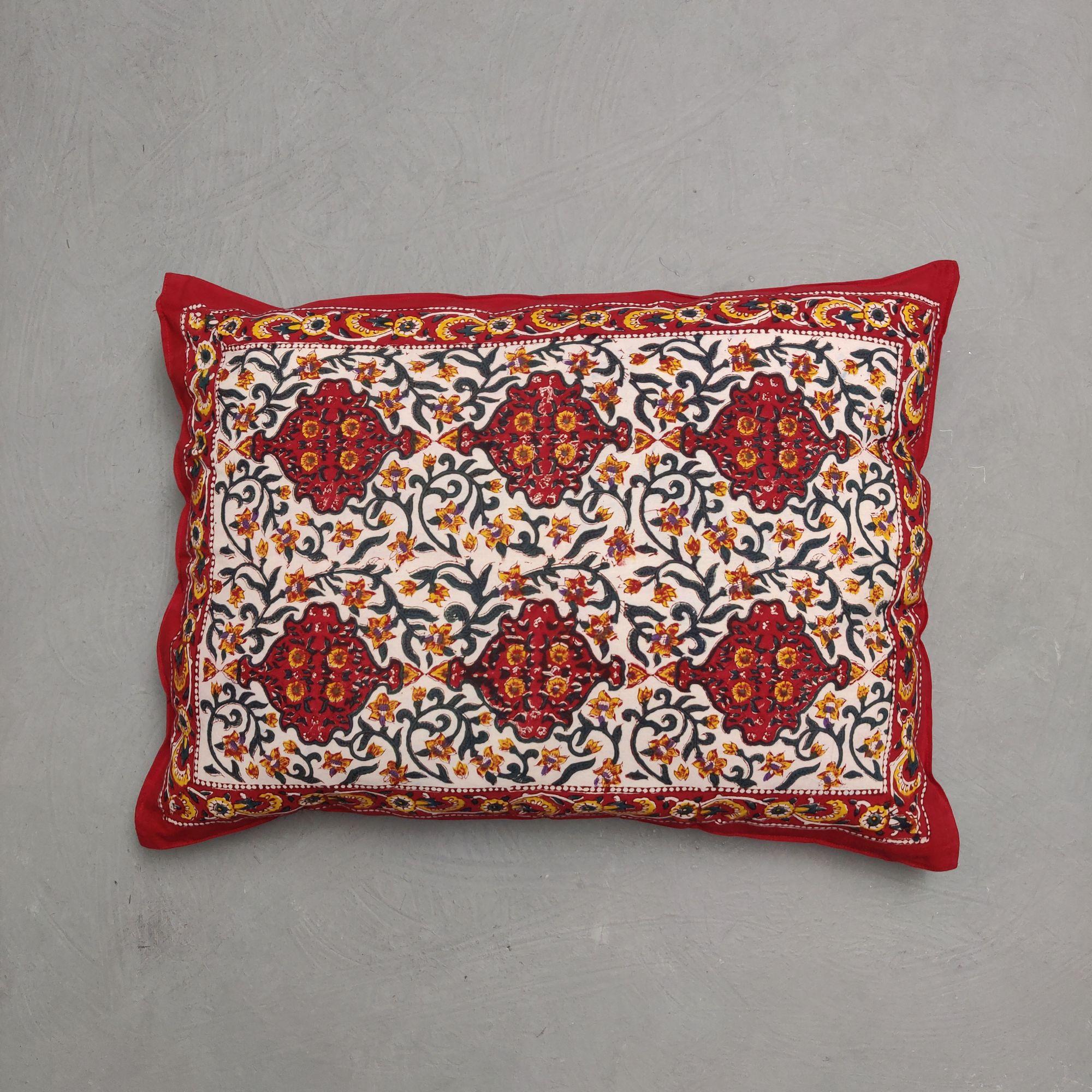 Handblock Pillow Cover HPC219