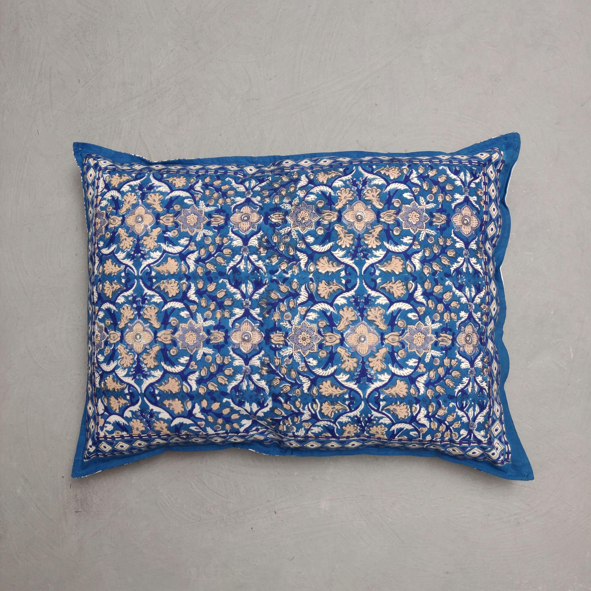 Handblock Pillow Cover HPC242