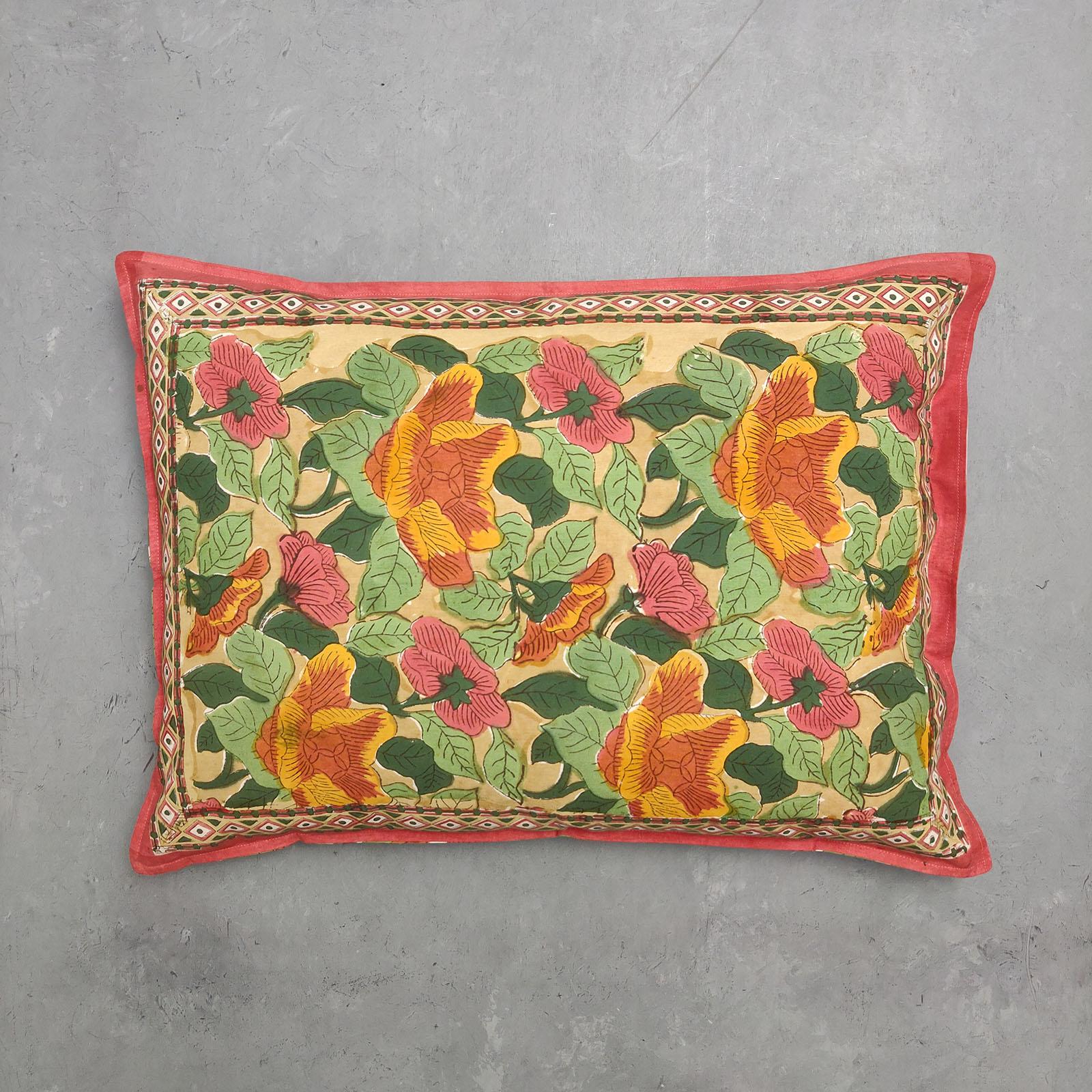 Handblock Pillow Cover HPC72