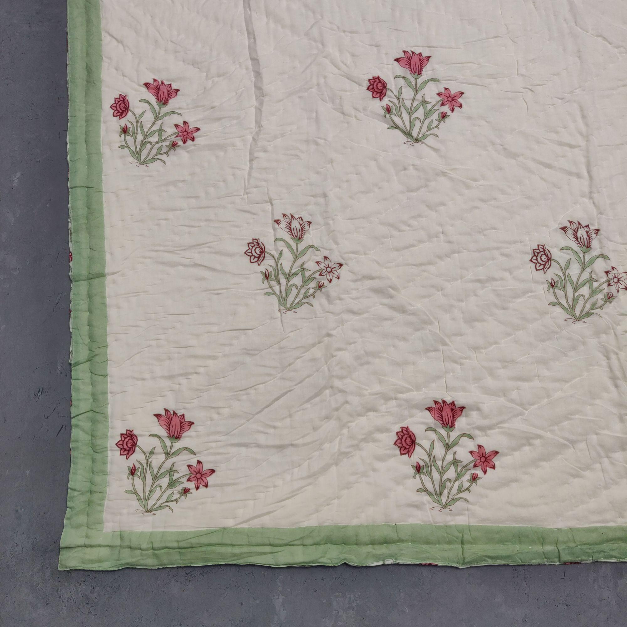 Floral Double Size Quilt QD25