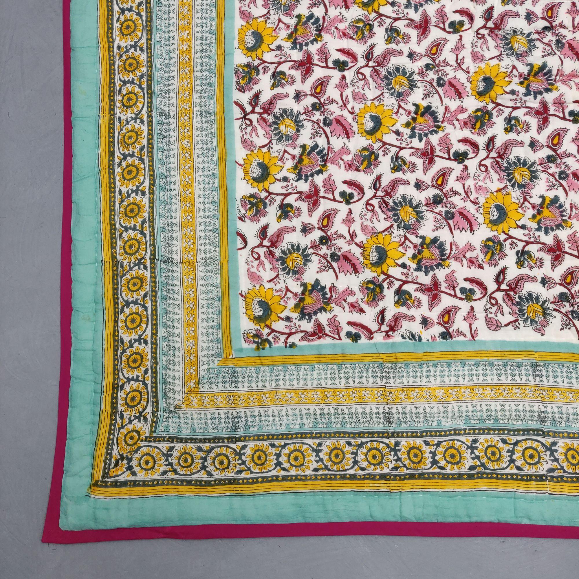 Floral Double Size Quilt QD30