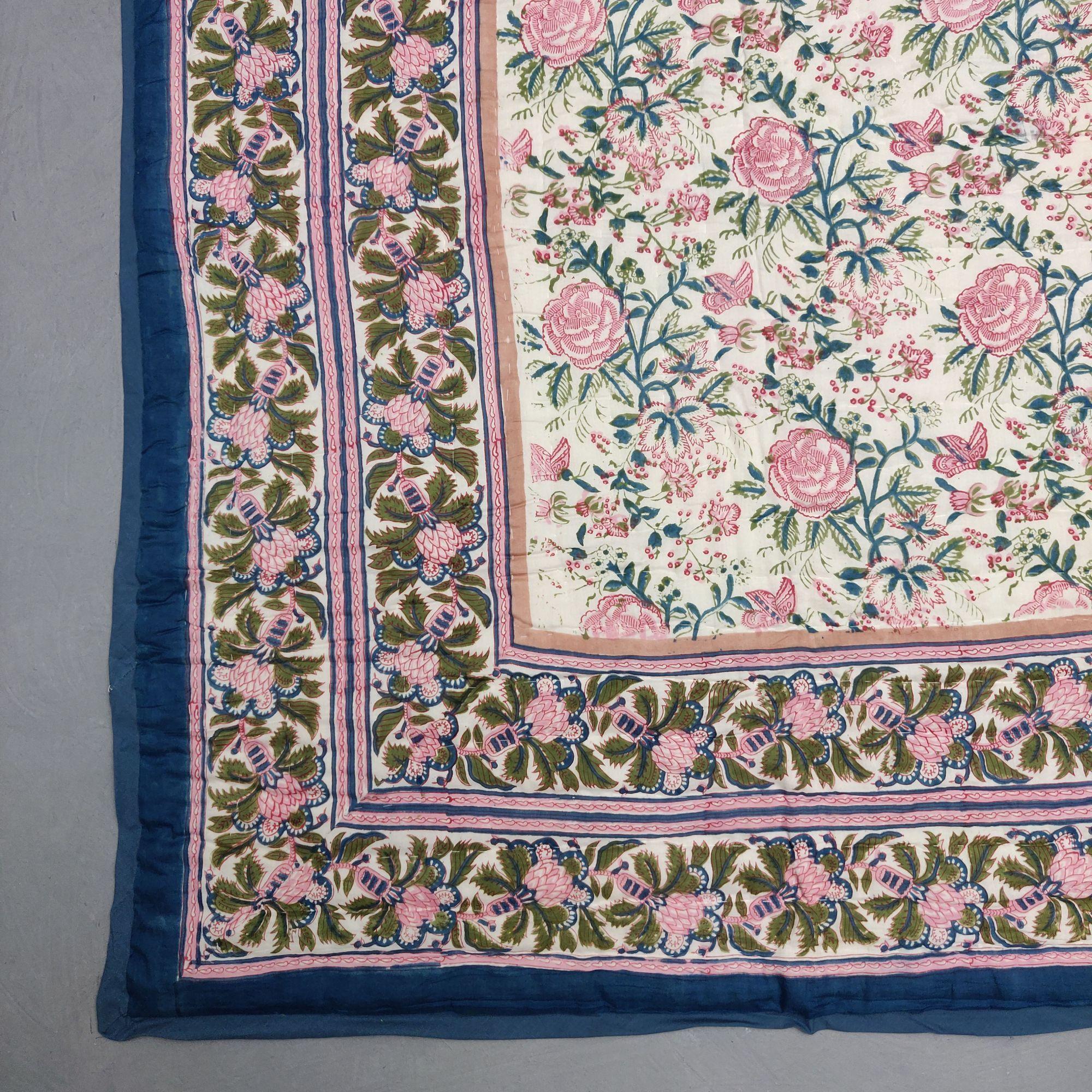 Floral Double Size Quilt QD33