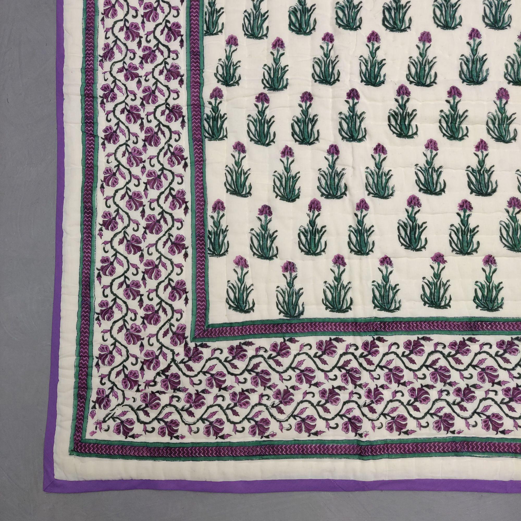 Floral Double Size Quilt QD42