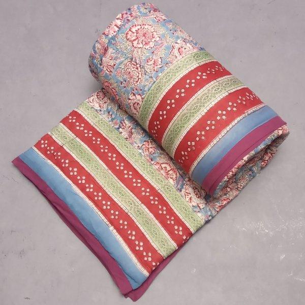 Rohi Blue Single Size Quilt