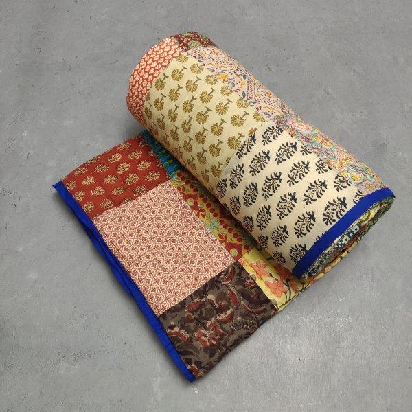 Single Size Patchwork Quilt Handblock HQS79
