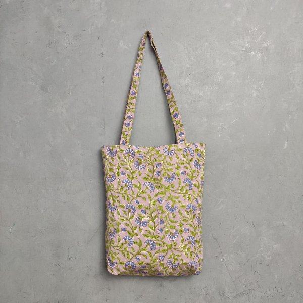 Handblock Printed Medium Canvas Tote Bag MCTB