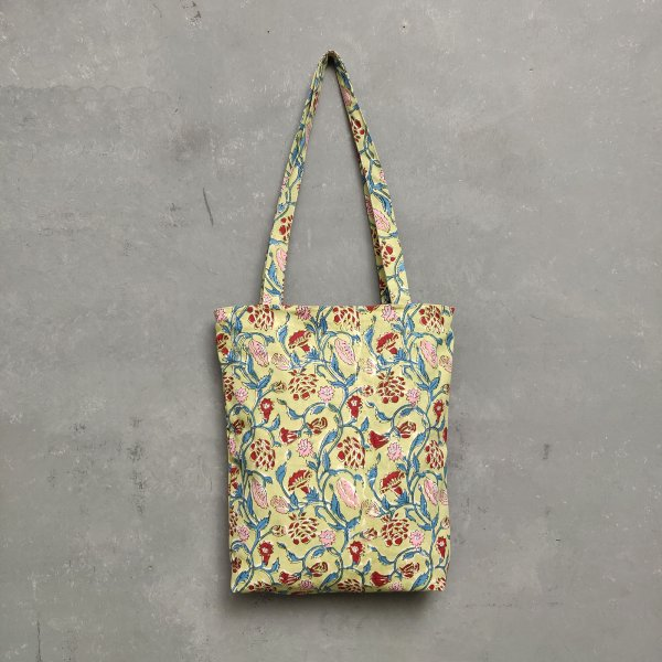 Handblock Printed Medium Canvas Tote Bag MCTB24