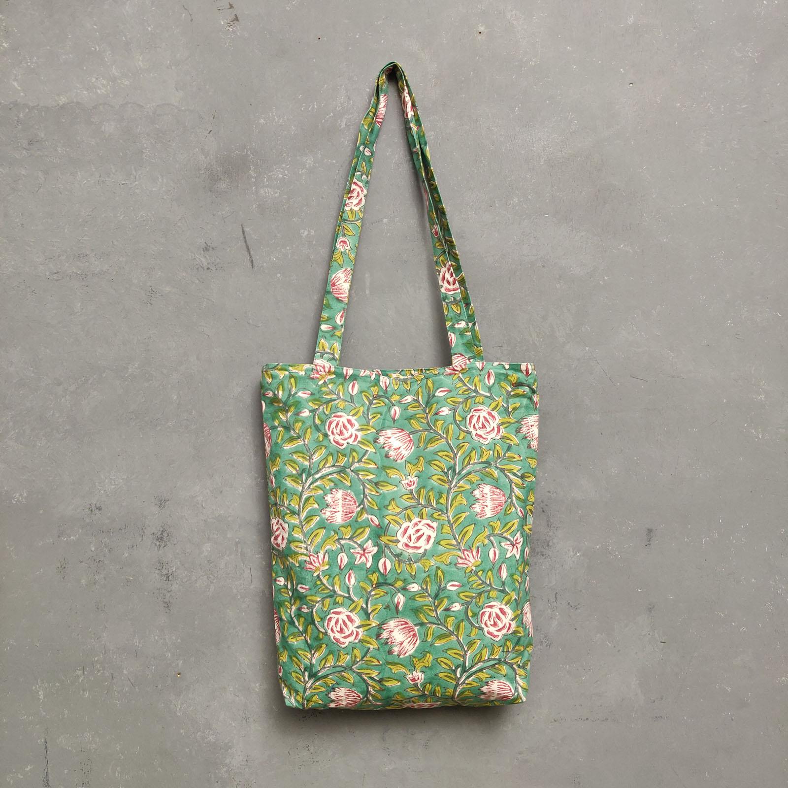 Handblock Printed Medium Canvas Tote Bag MCTB27