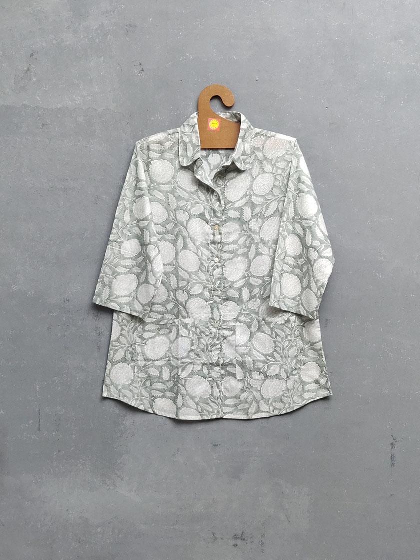 Daksha Floral Grey Night Suit