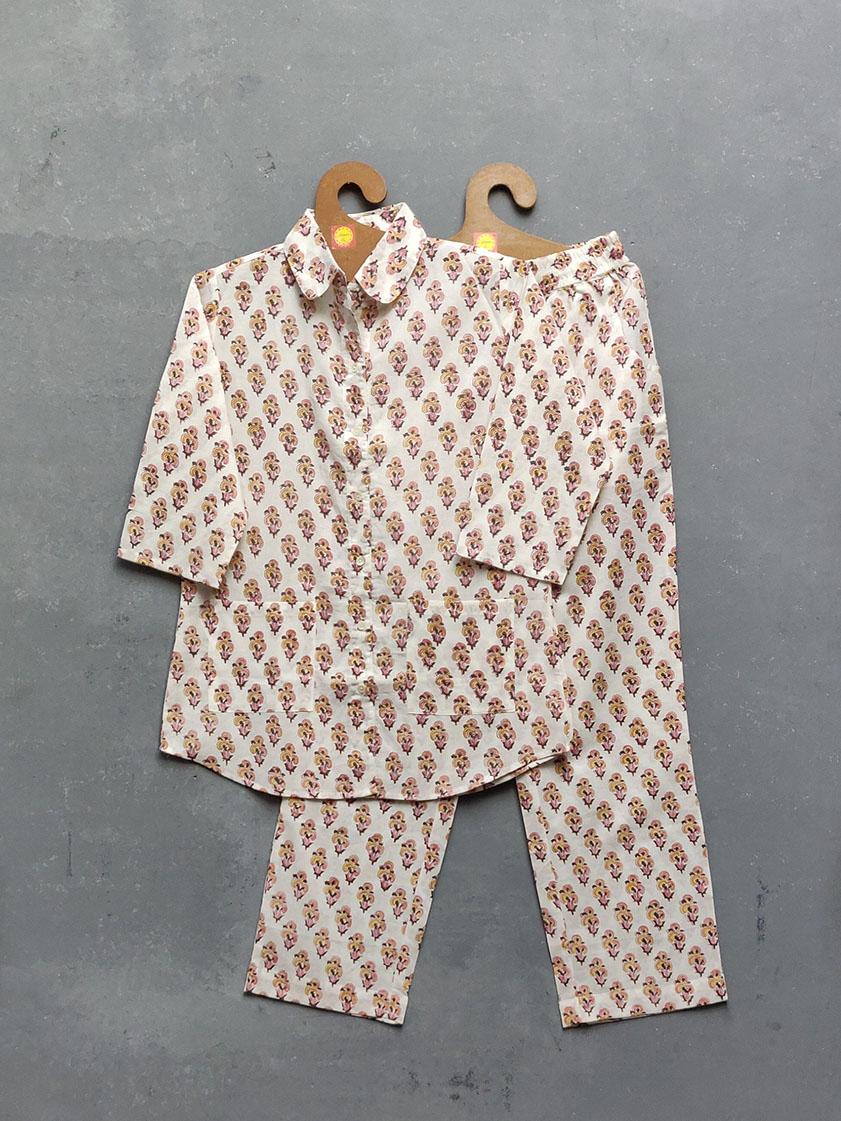 Cotton Handblock Print Night Suits WNS162