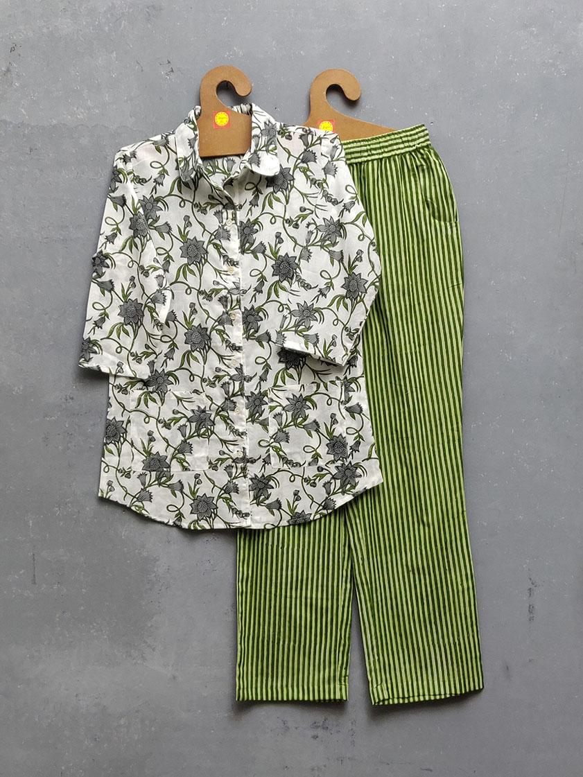 Cotton Handblock Print Night Suits WNS253