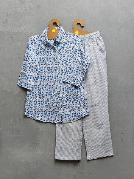 Cotton Handblock Print Night Suits WNS255