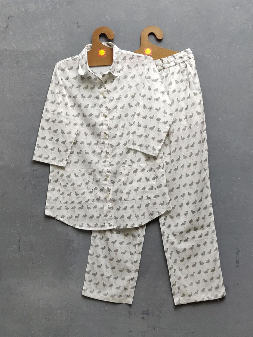 Cotton Handblock Print Night Suits WNS268
