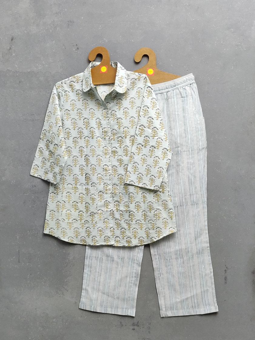 Cotton Handblock Print Night Suits WNS296