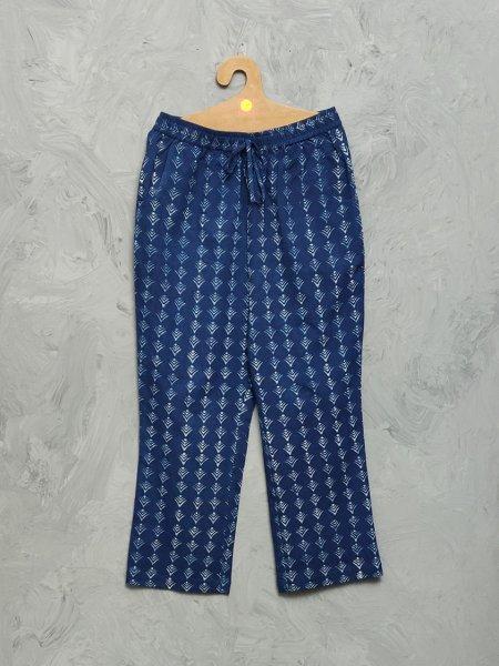 Indigo Cotton Handblock Print Night Suits WNS321