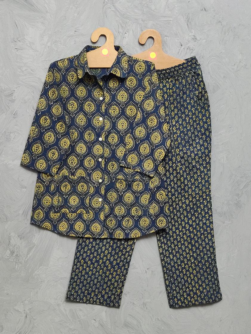 Ajrakh Cotton Handblock Print Night Suits WNS324