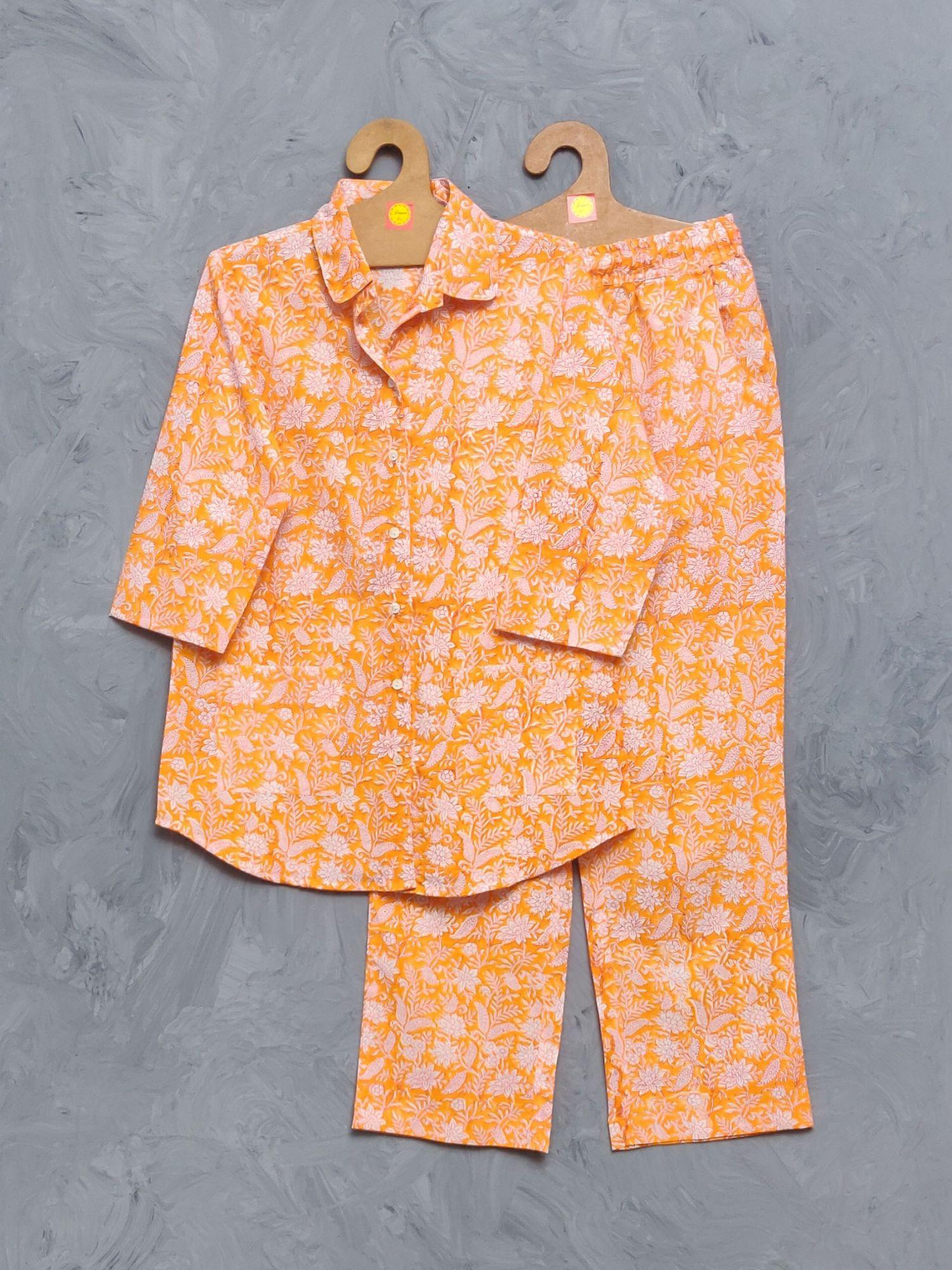 Cotton Handblock Print Night Suits WNS327