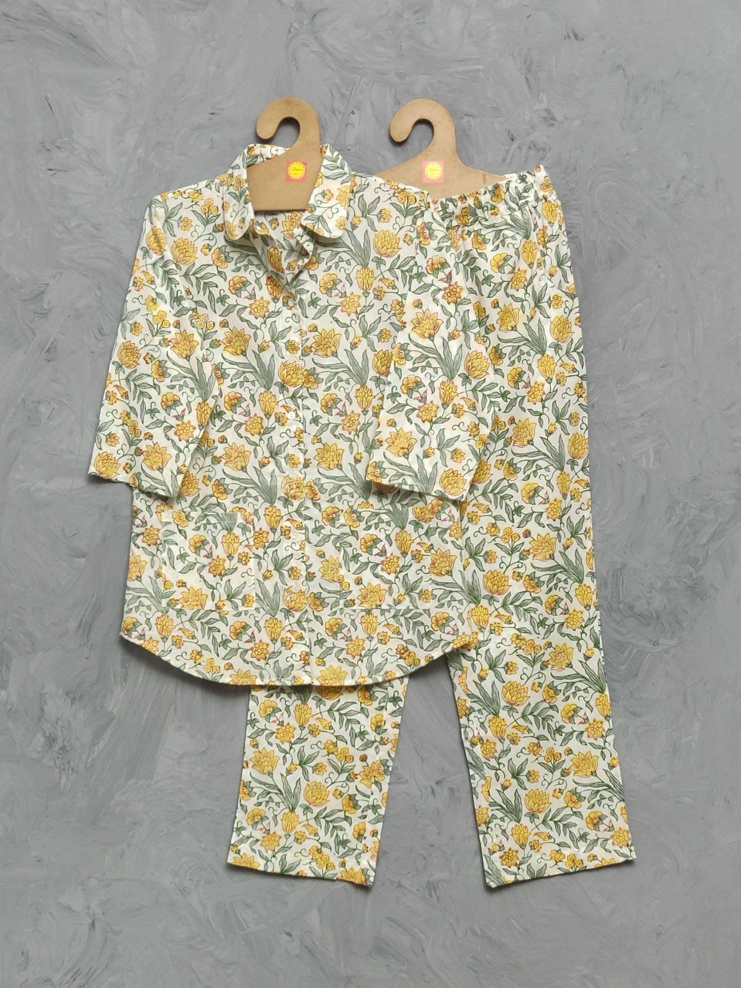 Cotton Handblock Print Night Suits WNS332
