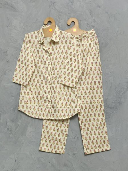 Cotton Handblock Print Night Suits WNS333