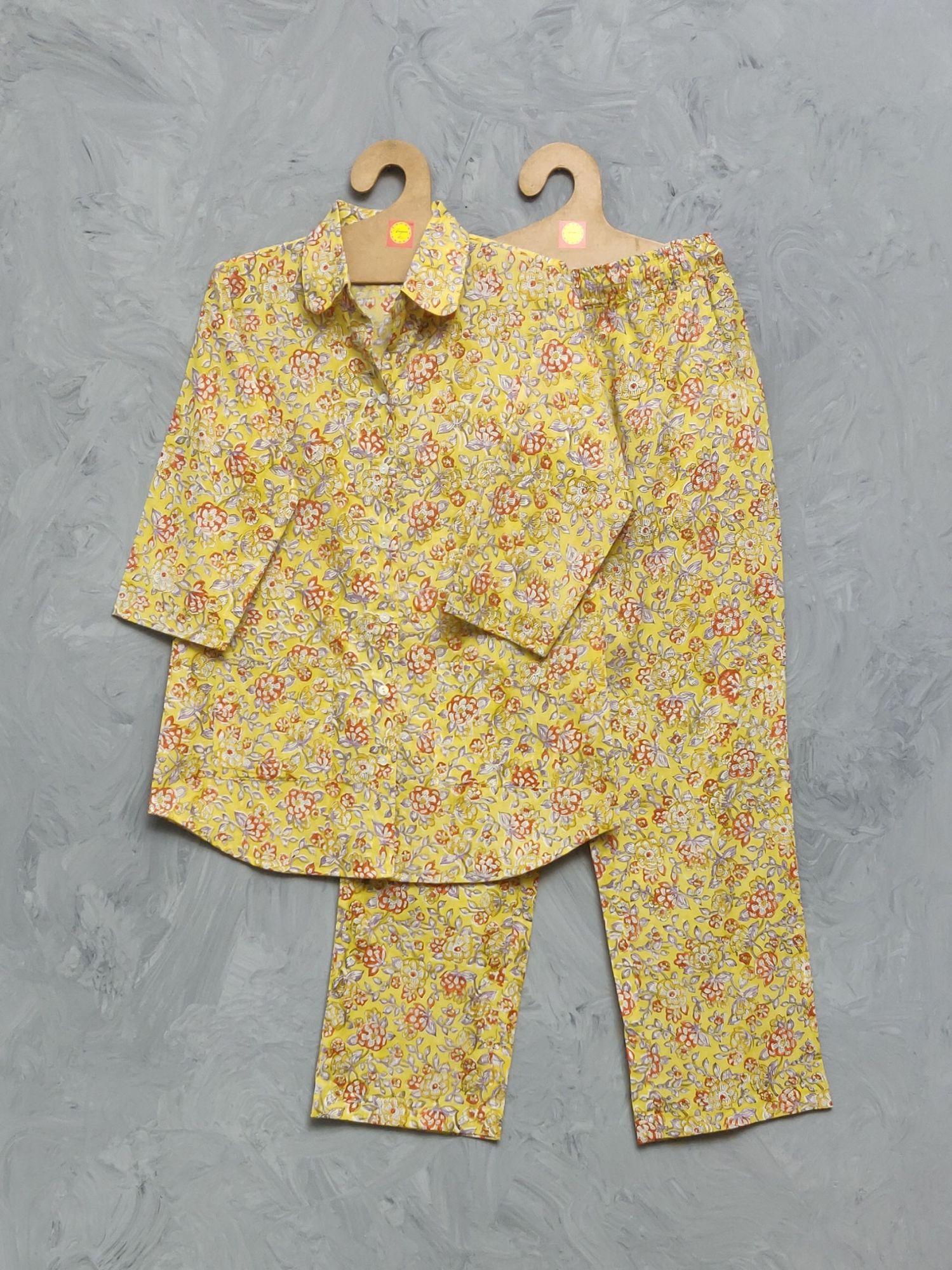 Cotton Handblock Print Night Suits WNS336