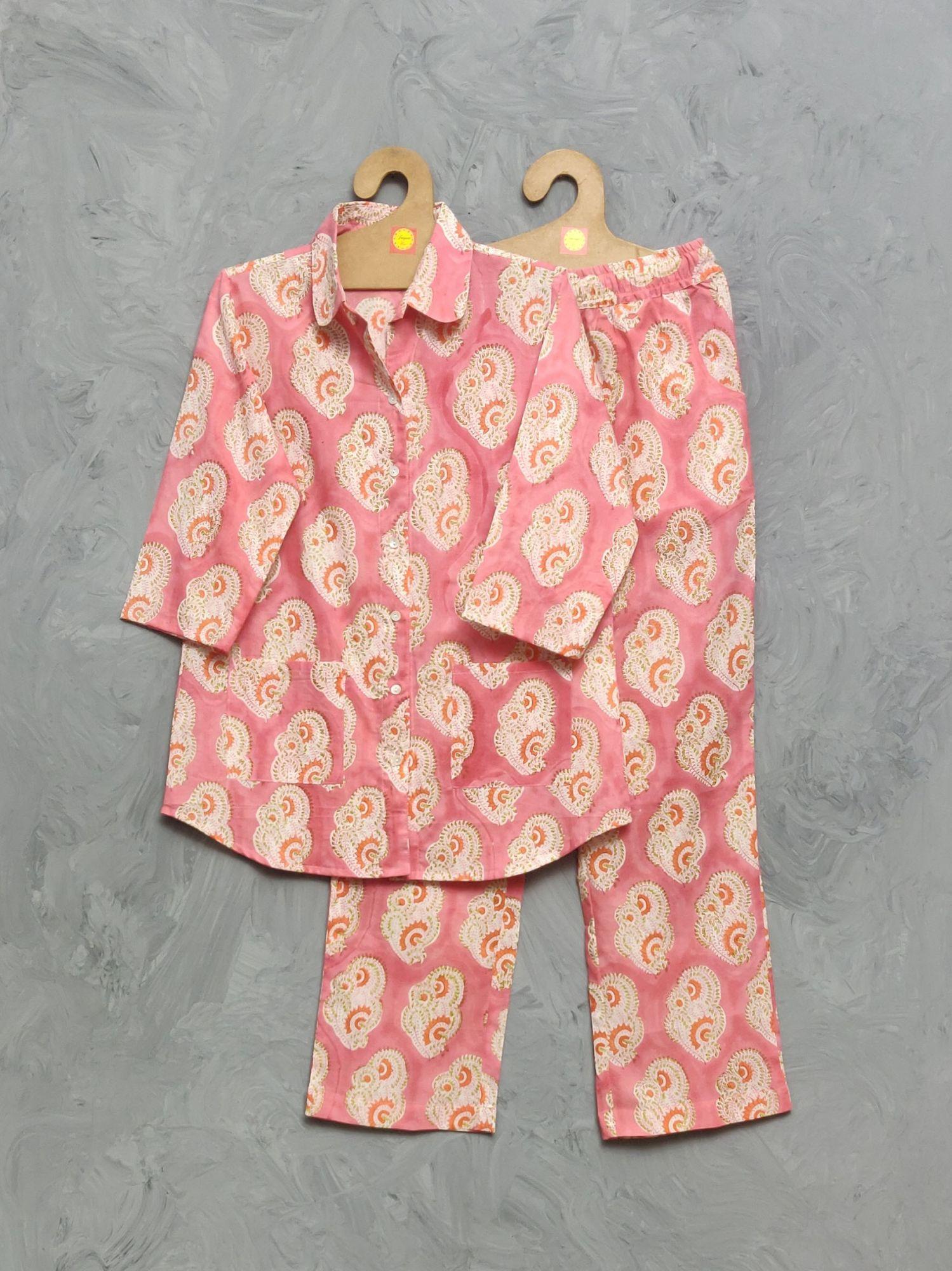 Cotton Handblock Print Night Suits WNS339