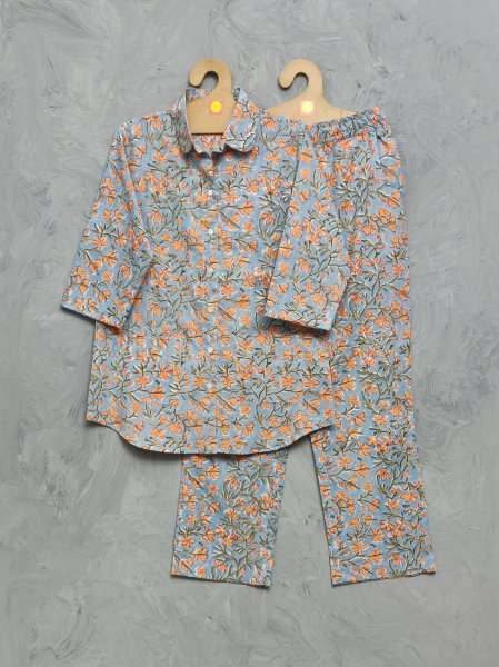Cotton Handblock Print Night Suits WNS340