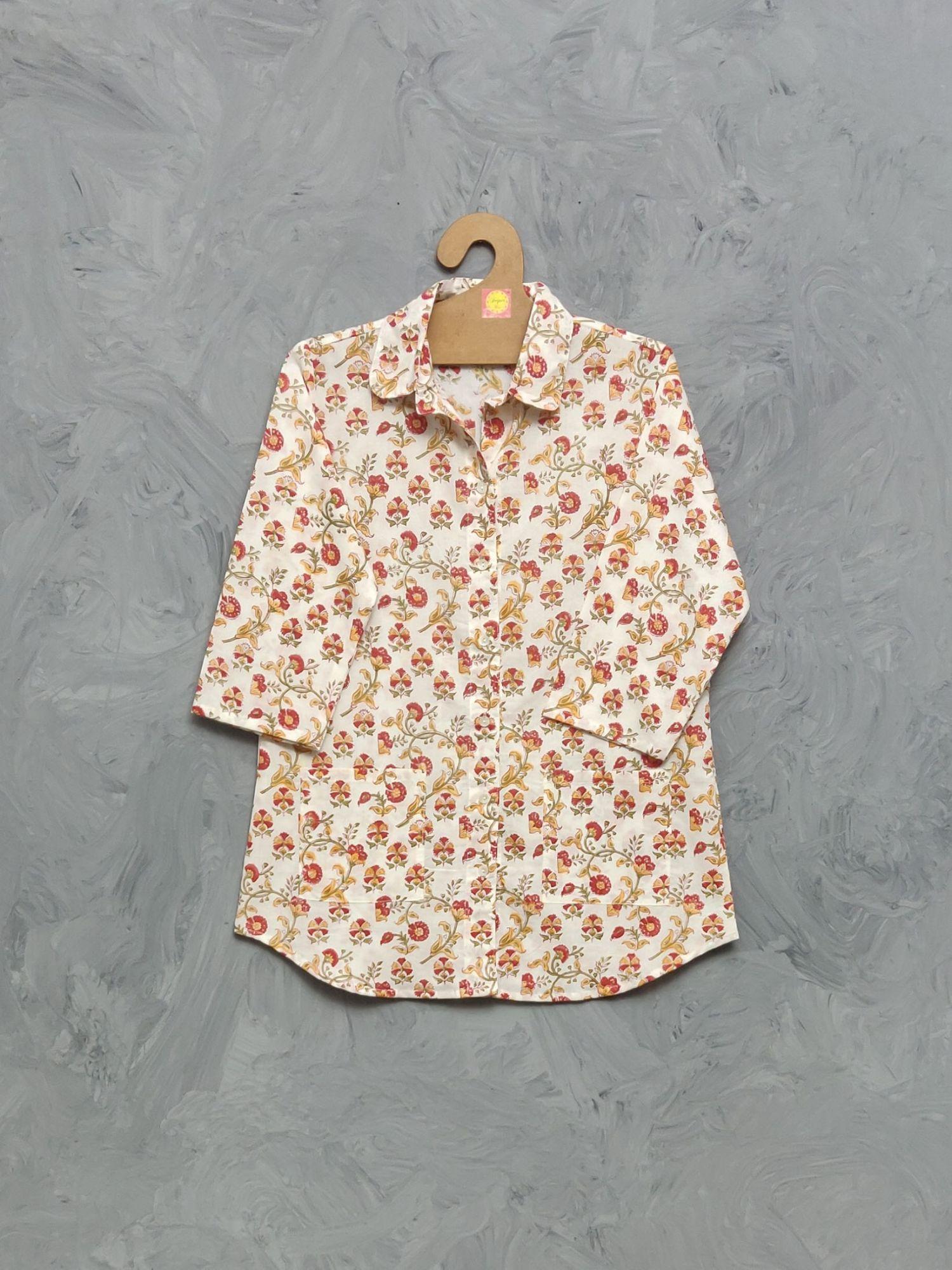 Cotton Handblock Print Night Suits WNS354