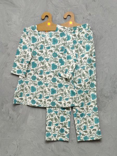Cotton Handblock Print Night Suits WNS379