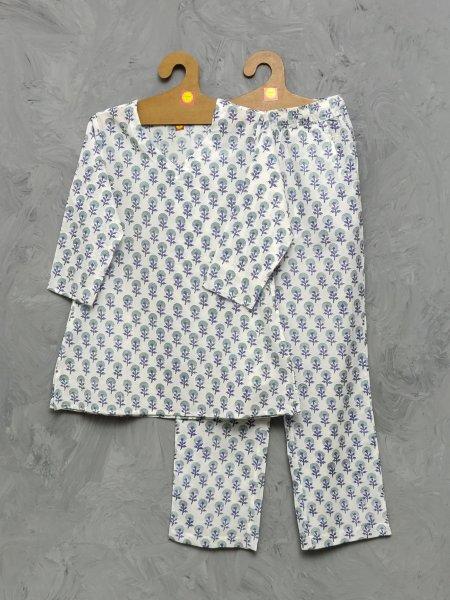Cotton Handblock Print Night Suits WNS380