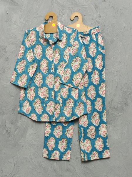 Cotton Handblock Print Night Suits WNS386